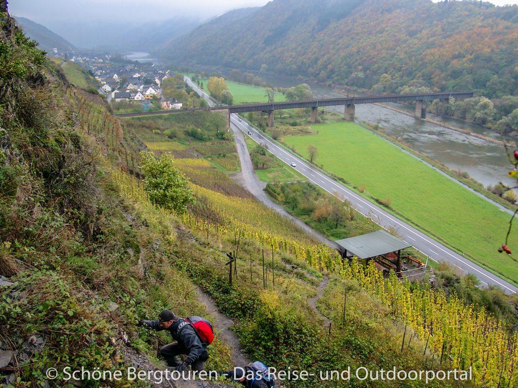 Calmont Klettersteig - Novembertag