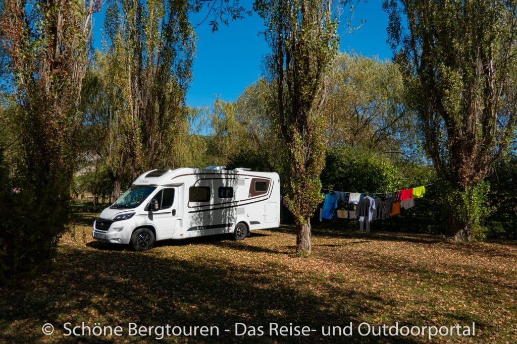 Wohnmobil mit Baby - Camping des Gorges de la Meouge
