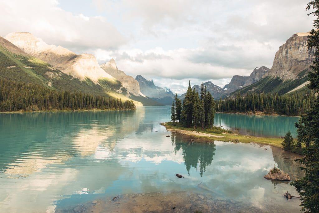 Kanada Rundreise - Spirit Island im Maligne Lake