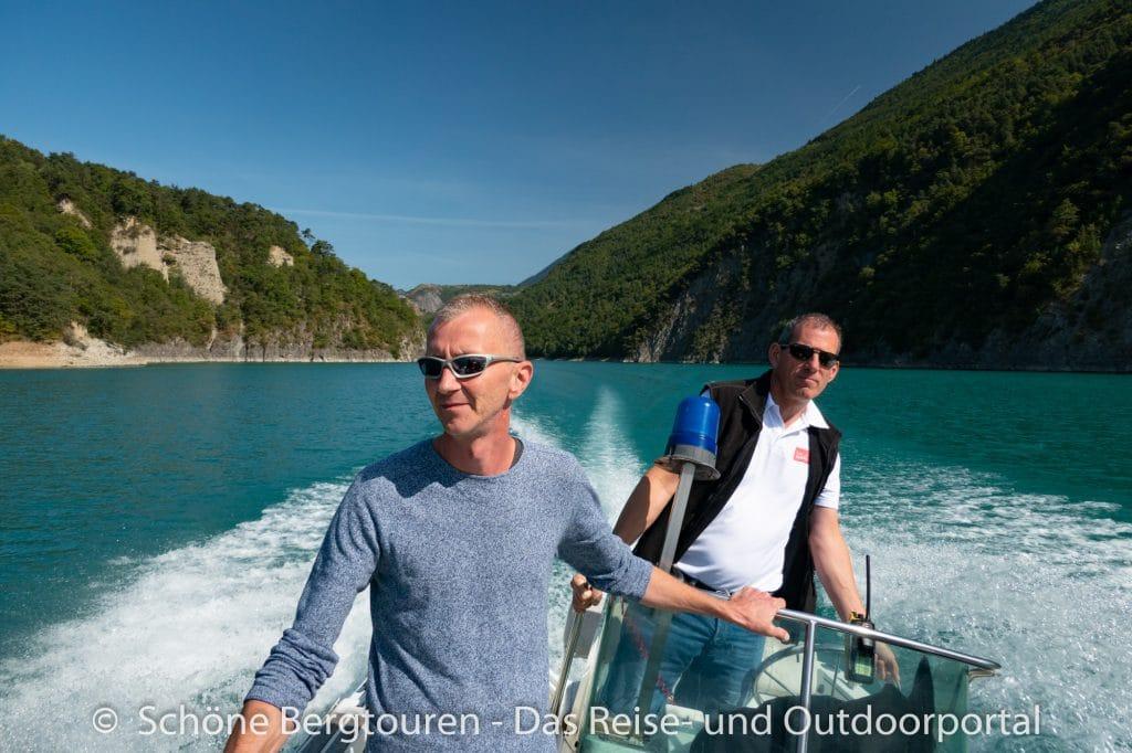 Vercors - Bootsfahrt Lac de Monteynard