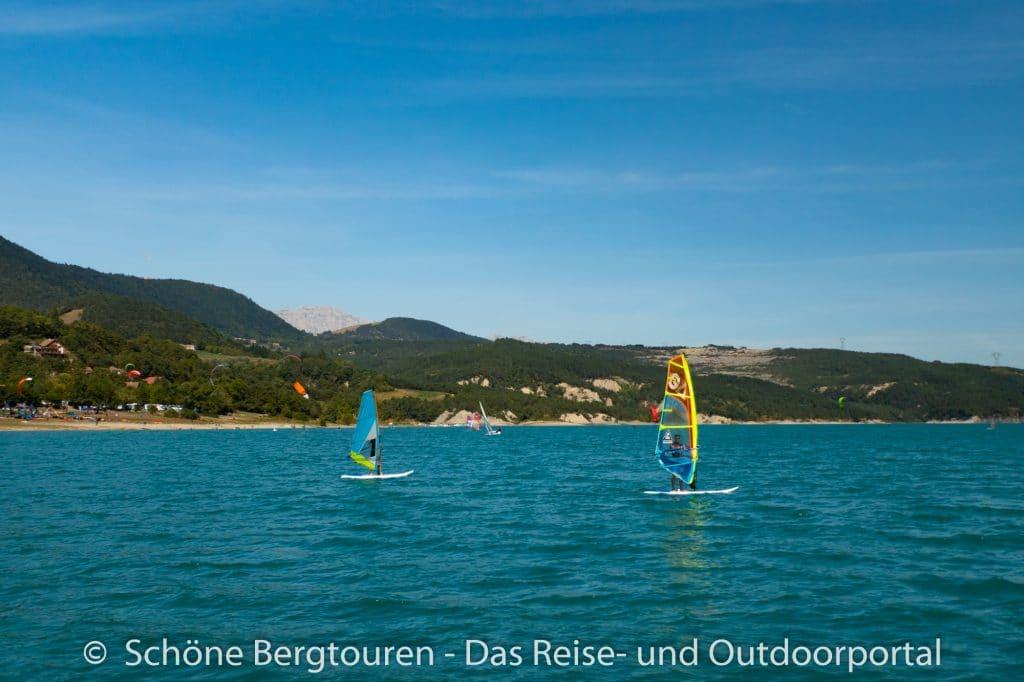 Vercors - Windsurfen am Lac de Monteynard