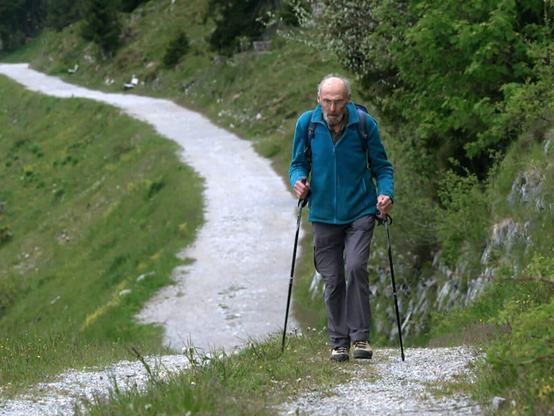 BergaufBergab - Hermann Huber beim Wandern