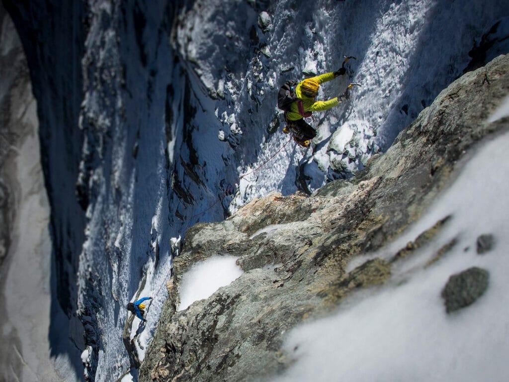 Bergwelten - Michi Lerjen und Jorge Ackermann in der Gogna Route der Matterhorn Nordwand