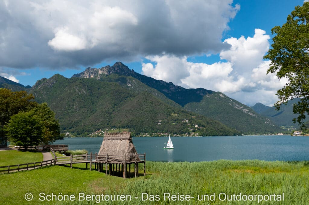 Wohnmobiltour Trentino - Pfahlbauten am Ledrosee