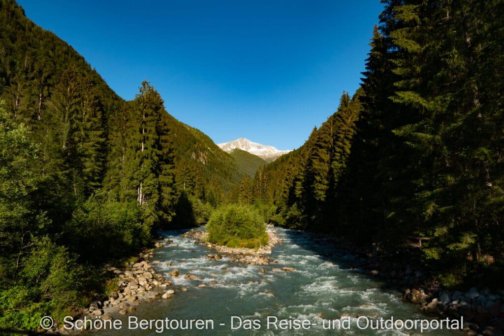 Wohnmobiltour Trentino - Sarca Fluss im Val Genova