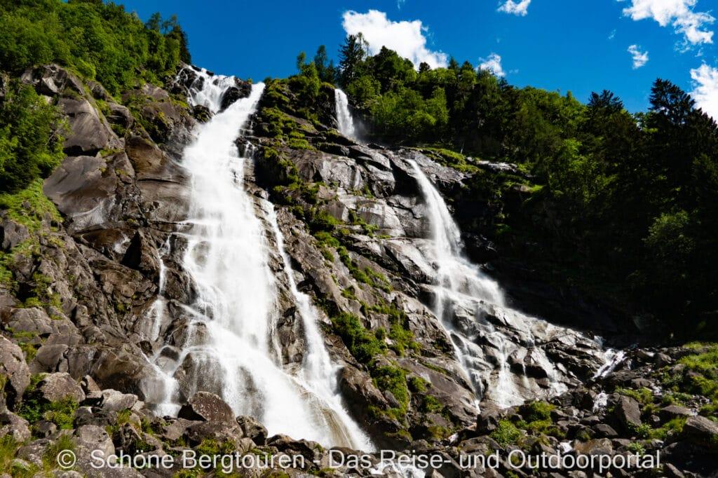 Wohnmobiltour Trentino - Cascate Nardis